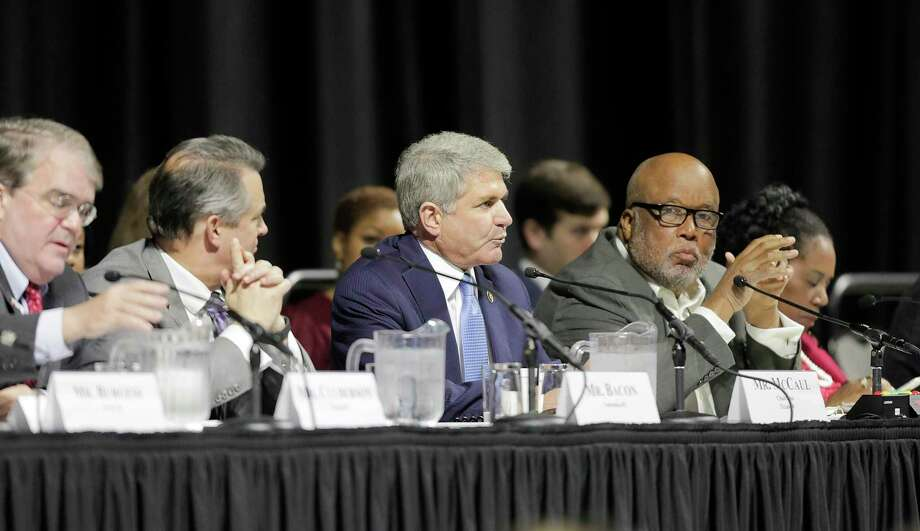 "U.S. Rep. Michael McCaul (R-TX), Chairman of the House Committee on Homeland Security, leads a hearing, ""Houston Strong: Hurricane Harvey Lessons Learned and the Path Forward at Berry Hall on Monday, April 9, 2018, in Cypress. ( Elizabeth Conley / Houston Chronicle ) Photo: Elizabeth Conley, Chronicle / Houston Chronicle / © 2018 Houston Chronicle"