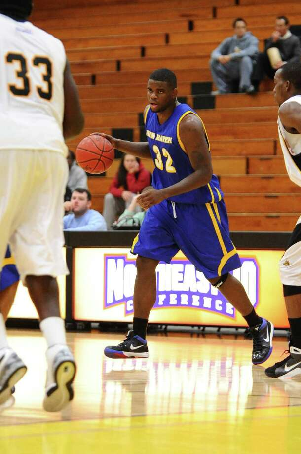 Professional boxer Cassius Chaney, a practice player for the WNBA's Connecticut Sun, finished his collegiate career as the sixth leading scorer in University of New Haven history with 1,893 points. Photo: University Of New Haven Athletics