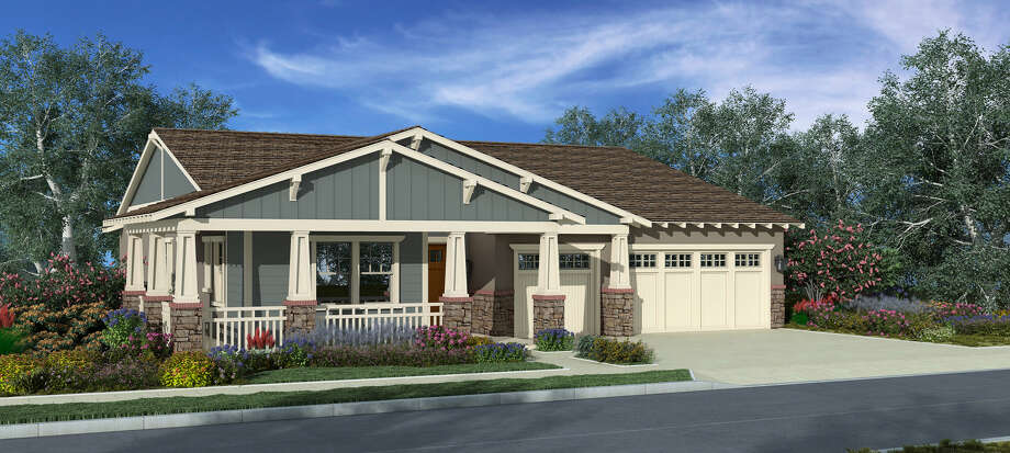 This Craftsman home is one of several architectural styles available to buyers at Andersen Ranch, a community of new homes near downtown Napa.