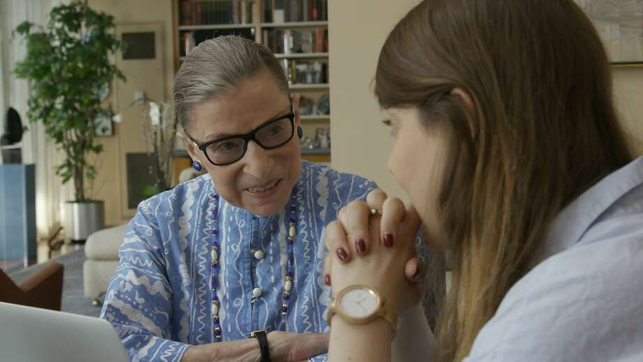 "U.S. Supreme Court justice Ruth Bader Ginsberg in a scene from ""RBG."" Photo: Magnolia Pictures, AP"