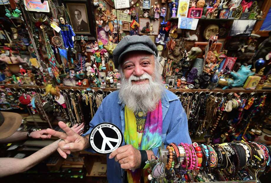 Raffael DiLauro, owner of the Group W Bench, at his store on Chapel Street in New Haven. Photo: Arnold Gold / Hearst Connecticut Media / New Haven Register