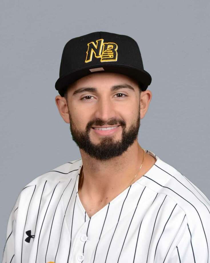 Woodbridge's Vinny Siena is back near home, playing for the independent New Britain Bees. Photo: Courtesy Of New Britain Bees