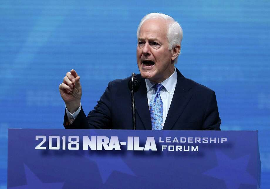 U.S. Sen. John Cornyn (R-TX) speaks at the NRA-ILA Leadership Forum during the NRA Annual Meeting & Exhibits at the Kay Bailey Hutchison Convention Center on May 4, 2018 in Dallas. The National Rifle Association's annual meeting and exhibit runs through Sunday. Photo: Justin Sullivan, Staff / Getty Images / 2018 Getty Images