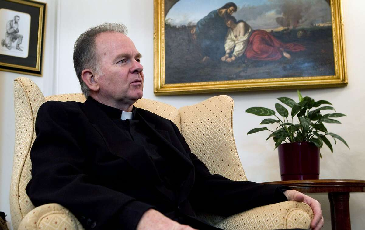 FILE -- The Rev. Patrick Conroy, then the House chaplain, in his office at the Capitol in Washington on Jan.13, 2012. The decision by House Speaker Paul Ryan (R-Wis.) to fire Conroy erupted into controversy Friday, April 27, 2018, as the speaker faced pushback in his own party and Democrats sought to exploit a delicate and potentially explosive political issue. (Stephen Crowley/The New York Times)