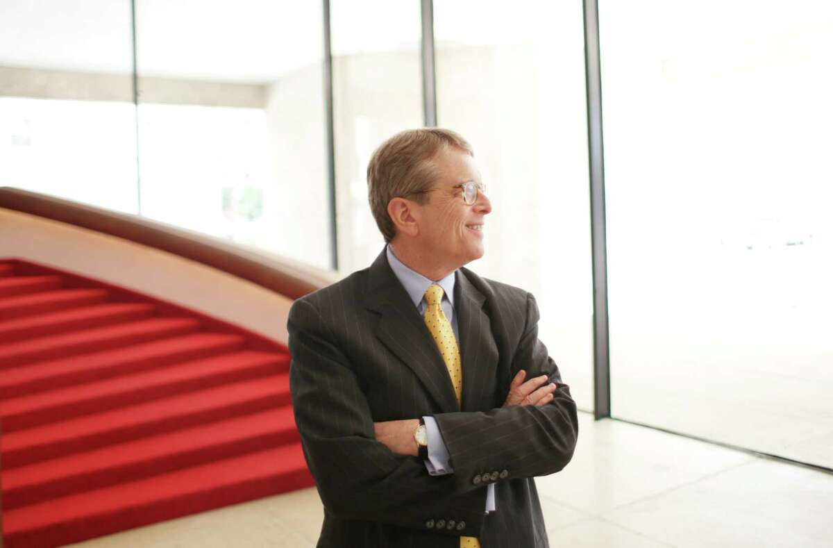 Dean Gladden, Managing Director of the Alley Theatre, stands in the theatre's lobby in 2015.
