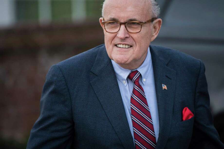 Rudy Giuliani arrives for a meeting at the clubhouse at Trump National Golf Club Bedminster in Bedminster Township, N.J. on November 20, 2016. Photo: Washington Post Photo By Jabin Botsford / The Washington Post