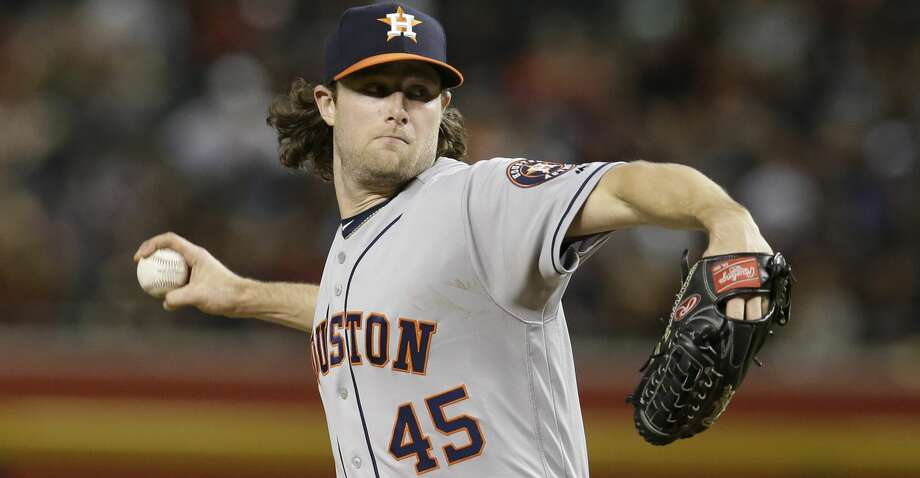 Astros starter Gerrit Cole finished off his one-hitter Friday with his fastest pitch of the night. Photo: Rick Scuteri/Associated Press