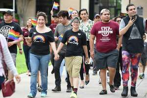 TAMIU's Campus Ally Network, along with students and the community, gathered Friday evening to kick off Pride Walk and Pride Fest on the campus grounds.