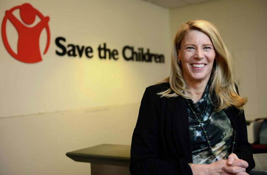 "Carolyn Miles, president and CEO of Fairfield-based Save the Children, will talk with NPR's ""Where We Live"" host Lucy Nalpathanchil for ""Making Her Story"" on Tuesday, May 15 at the Ridgefield Playhouse. Photo: File / Autumn Driscoll / Autumn Driscoll / Connecticut Post"