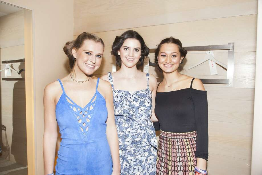 Sacred Heart Greenwich students Megan Doherty, Marisa Barbosa and Jackie Shannon took part in the annual Junior Breast Cancer Alliance fashion show at Richards on Greenwich Avenue and helped raise money for the Greenwich-based non-profits work bringing breast health services to underserved women. Photo: Kathleen DiGiovanna / Contributed Photo
