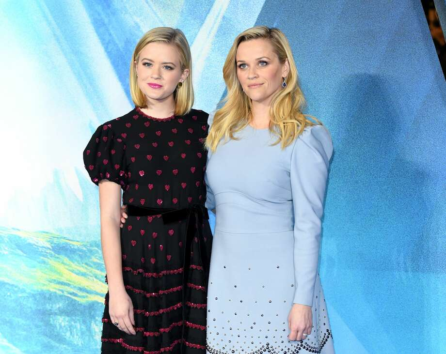 Reese Witherspoon (R) and daughter Ava Phillippe (L) attend the European Premiere of 'A Wrinkle In Time' at BFI IMAX on March 13, 2018 in London, England. Phillippe, who is entering her sophomore year at UC Berkeley, is the new face of Amazon's offerings to college students after the company dropped Olivia Jade amid the national college cheating scandal. Photo: Karwai Tang/WireImage
