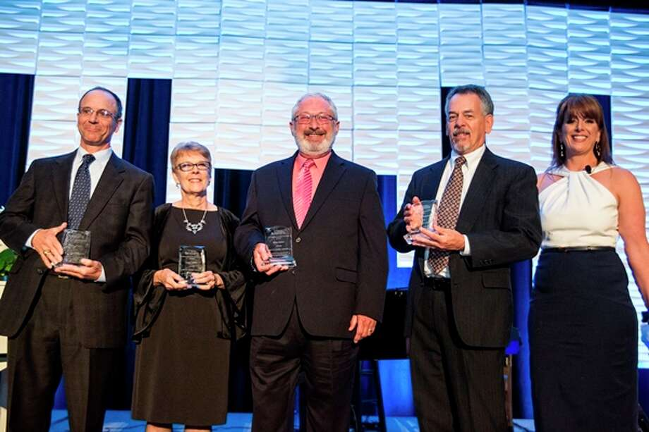 Pictured for the Betty Hardy Award are Peter Jensen, Carol Coover, Dave Potter, and Matt Zielinski with Allison Hulett (not pictured is Robert Plain). Photo: Courtesy Photo
