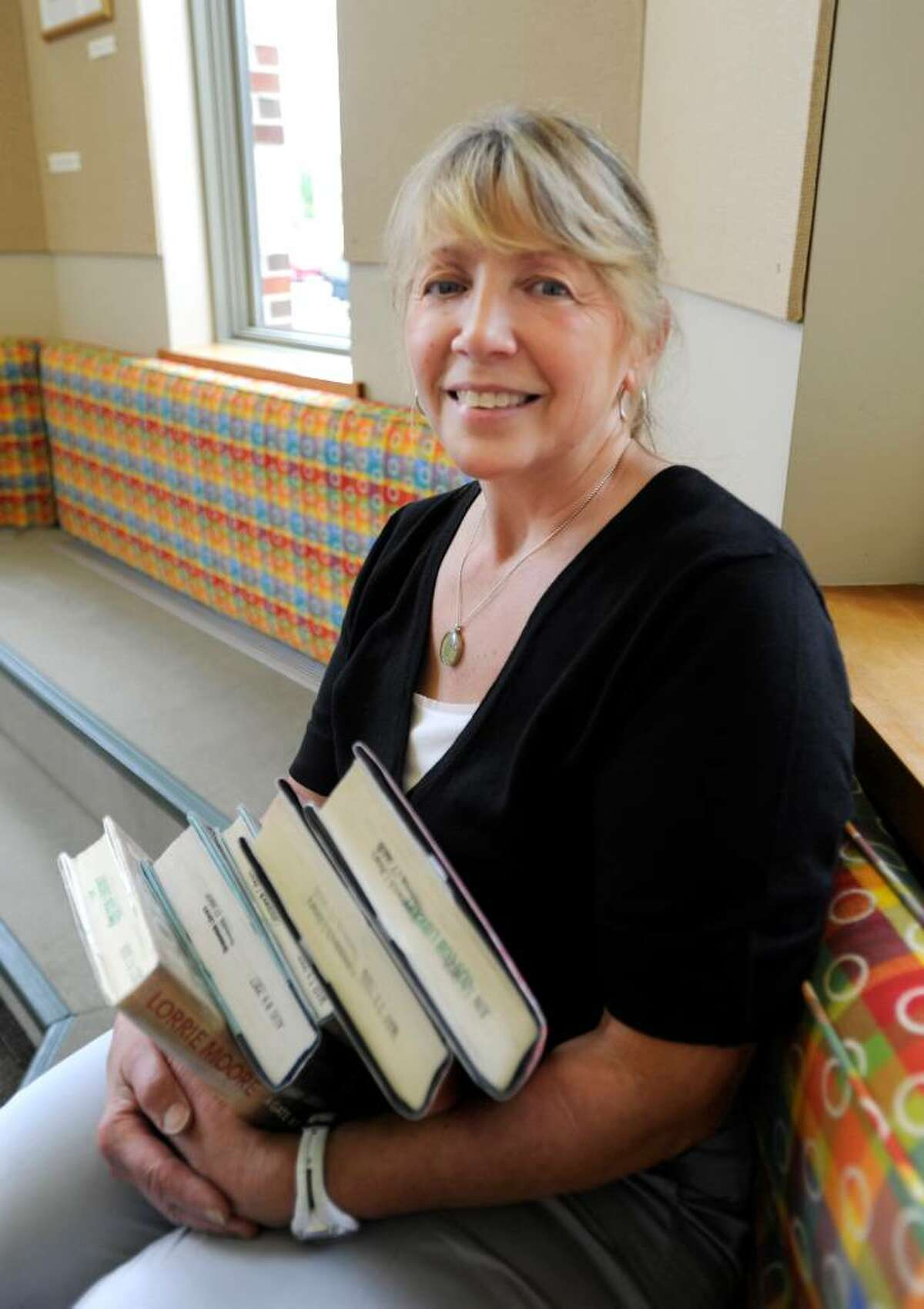 Kathi Mullins, 59, Cos Cob library technical assistant. 'When I think of America, I think about emigration and how great it made this country. My parents on both sides were emigrants. I also think of the freedom of political debate in this country, like most other countries donít have. I think that America is very generous in time and money. I always think about how we have been very innovative and that the time will come when the country will even be more innovative concerning green technology.