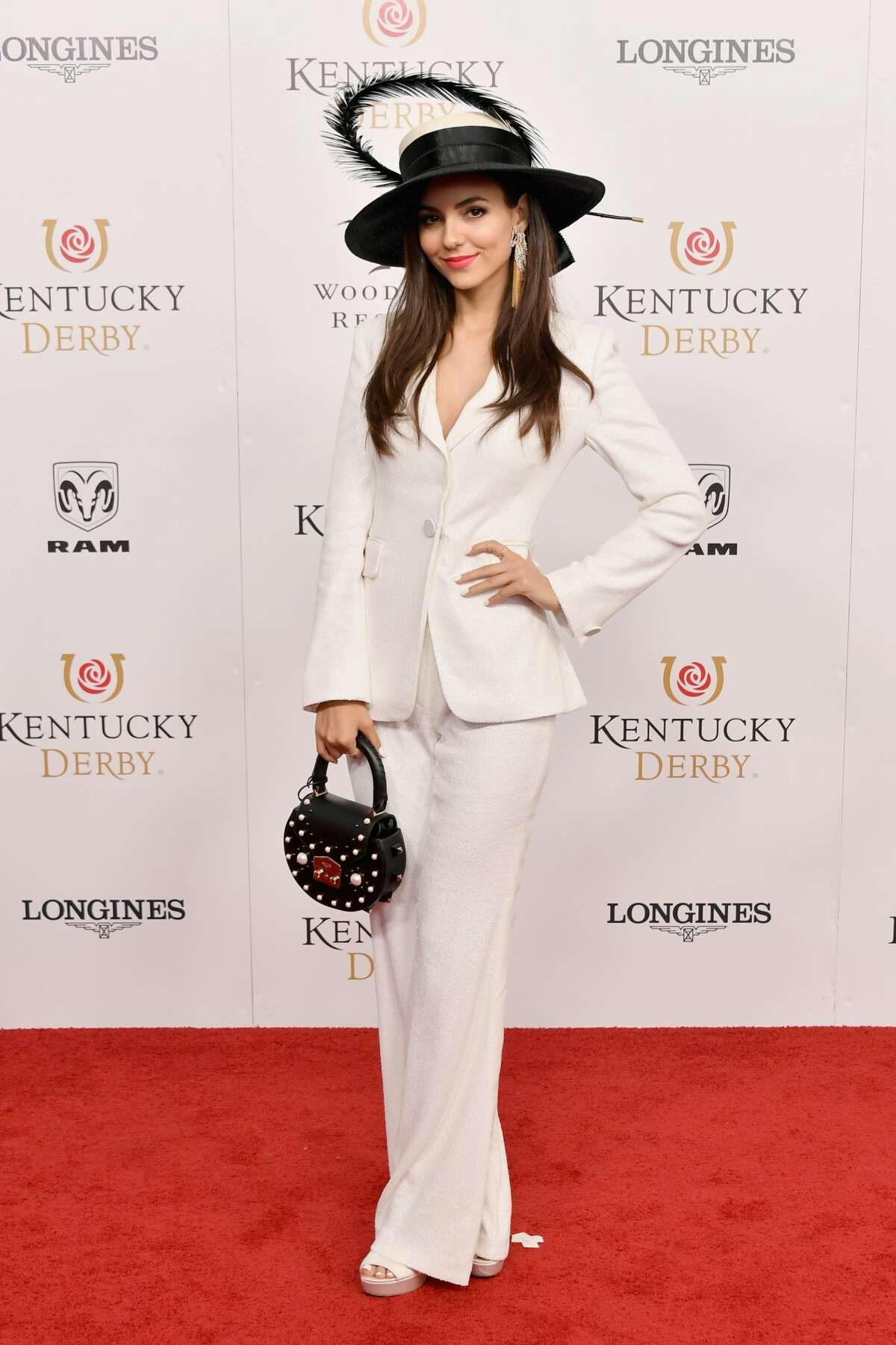 Actress Victoria Justice attends Kentucky Derby 144 on May 5, 2018 in Louisville, Kentucky.