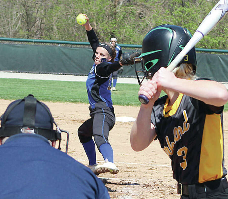 Pitcher Kaylee Hefley is one the returning players LCCC softball coach Ronda Roberts said will form a 'strong nucleus' next season. Photo:     Pete Hayes | The Telegraph