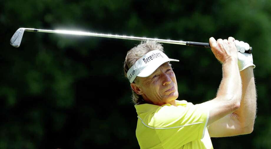 Bernhard Langer tees off on the 8th hole during the second round of the Insperity Invitational at the The Woodlands Country Club Saturday, May 5, 2018, in The Woodlands, TX. (Michael Wyke / For the  Chronicle) Photo: Michael Wyke, For The Chronicle / © 2018 Houston Chronicle