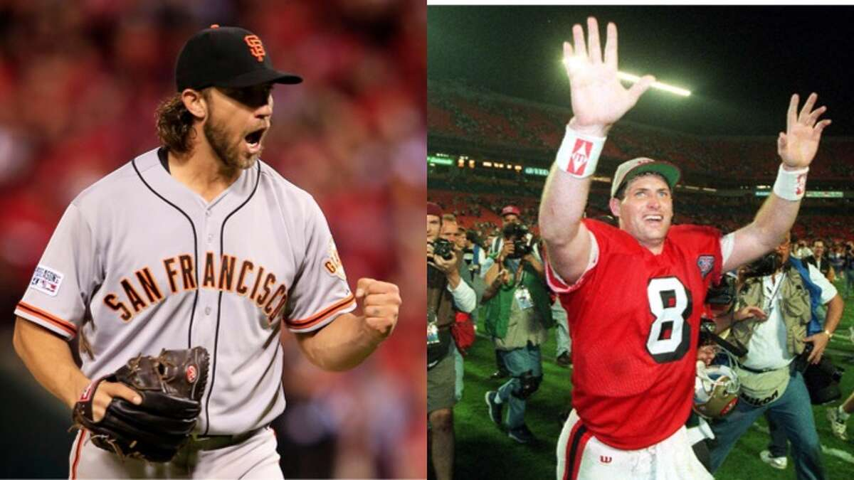 Madison Bumgarner vs. Steve Young Madison Bumgarner and Steve Young have a couple of major things in common. They both are fan favorites of the Bay Area sports community. They both were leaders of local sports teams' efforts to win multiple championships in their respective sports. And now, they are facing off against each other in the semifinals of The Sportsball Cup.