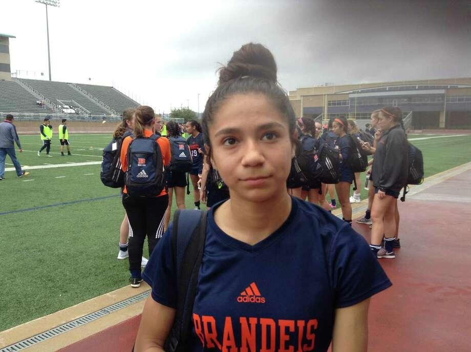 Brandeis freshman soccer player Isabella Benavidez Photo: Terrence Thomas