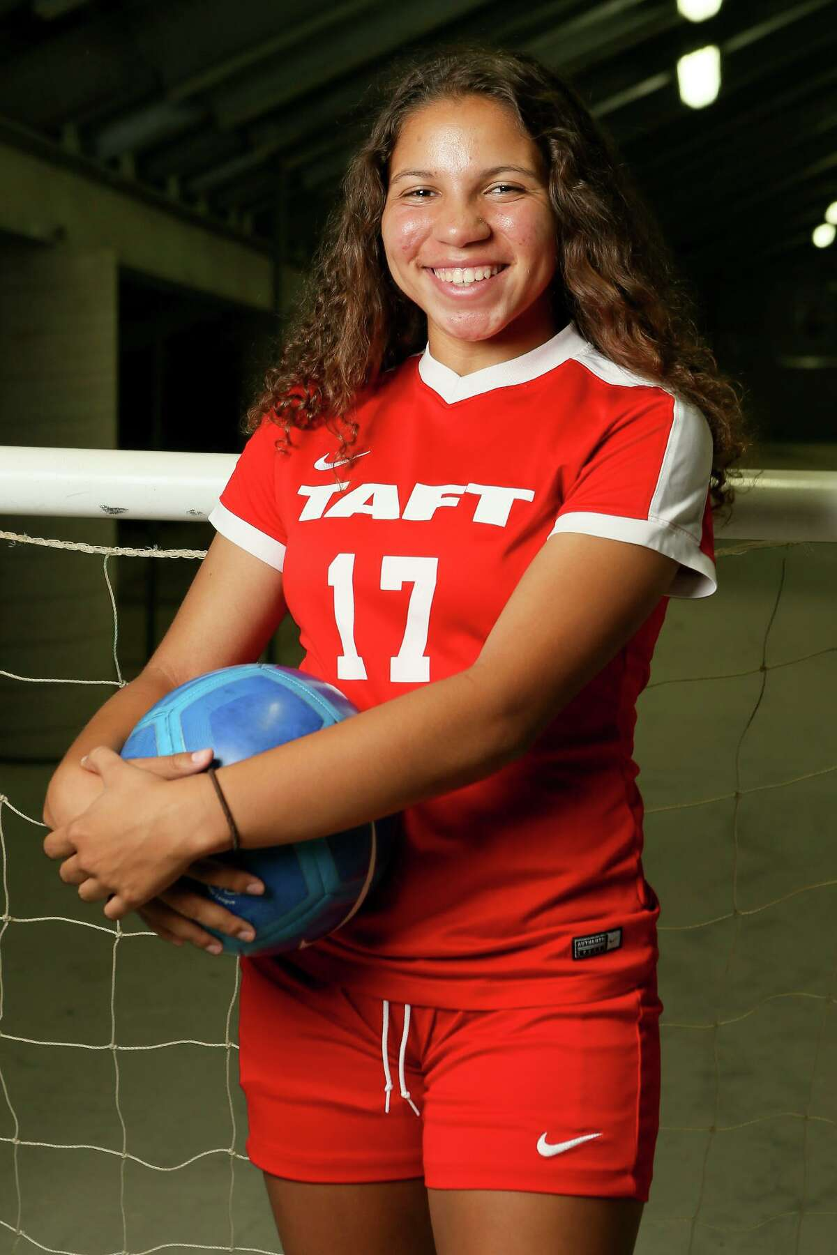 Adriana Hutson, Taft forward, posing at Toyota Field on Wednesday, May 2, 2018, is a member of the 2018 Express-News All-Area Girls Soccer Team. MARVIN PFEIFFER/mpfeiffer@express-news.net