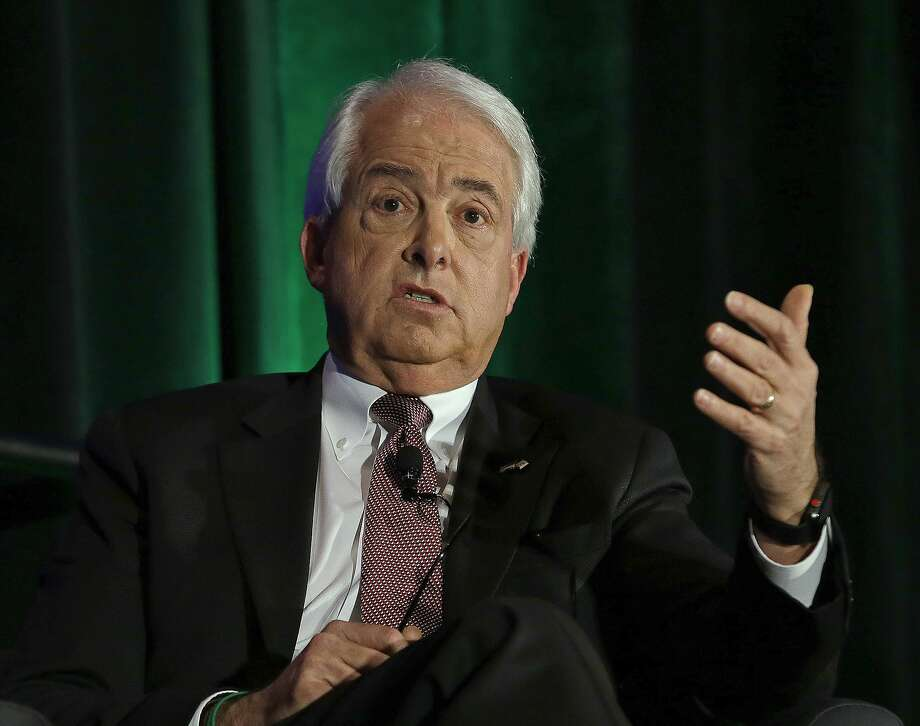 FILE - In this March 8, 2018 file photo, California gubernatorial candidate, businessman John Cox, a Republican, discusses the state's housing problems at a conference in Sacramento, Calif. Republicans are fighting to hold their ground in strongly Democratic California. Party delegates are meeting in San Diego this weekend to consider endorsements for candidates seeking statewide offices that are all held by Democrats. The outlook is challenging. (AP Photo/Rich Pedroncelli, File) Photo: Rich Pedroncelli / Associated Press
