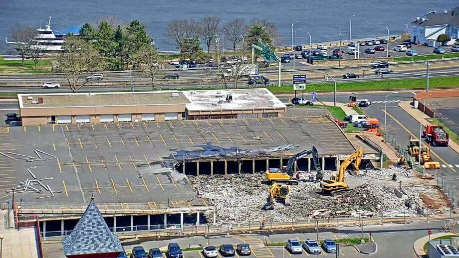 Middletown's parking arcade on Court Street is in the process of being demolished. Photo: Contributed Photo