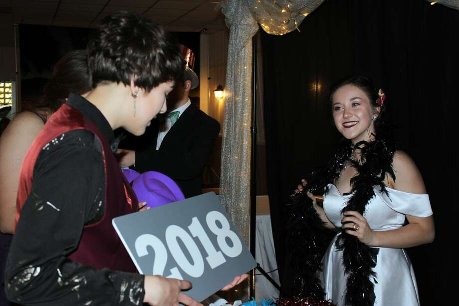 "It was a night on the red carpet for Cass City High School students, whose prom theme was ""Hollywood."" They gathered at Ubly Heights Golf & Country Club to dance the night away. Photo: Brenda Battel/Huron Daily Tribune"