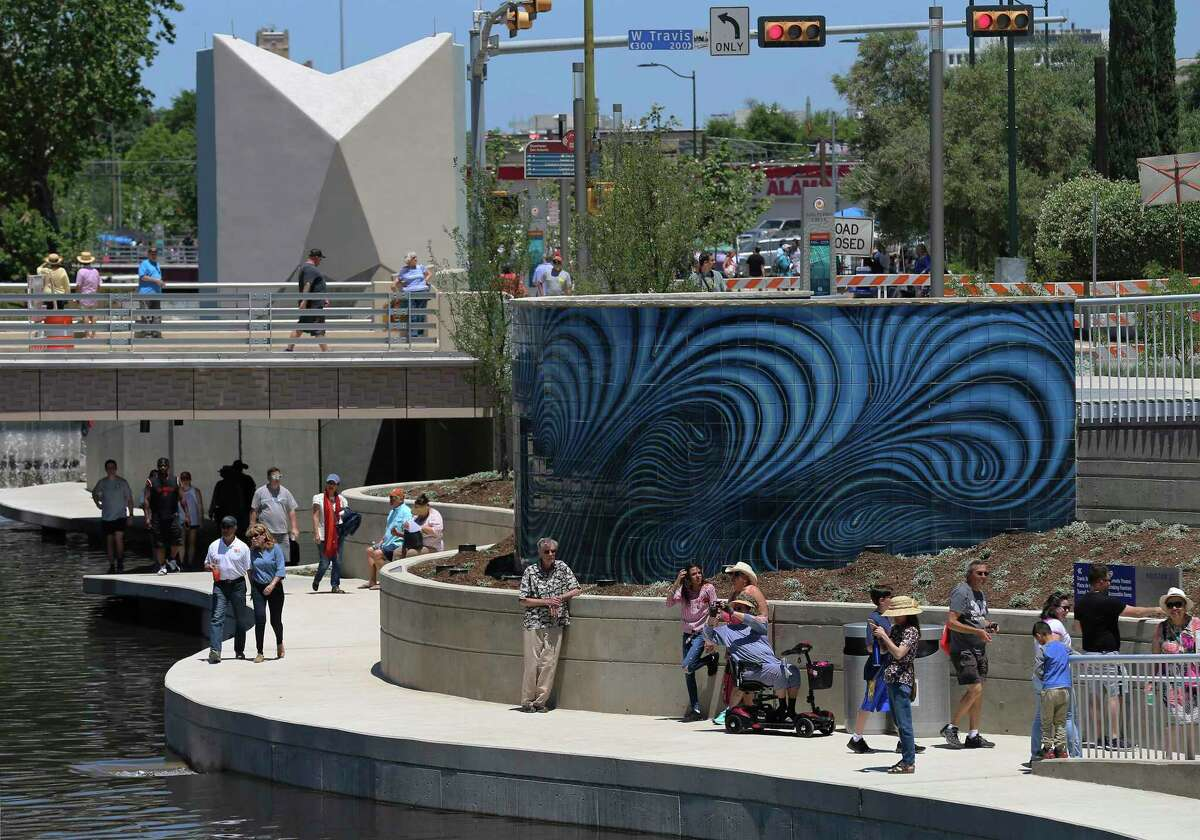 The linear San Pedro Creek Culture Park is still under construction but is expected to transform a large portion of downtown San Antonio.