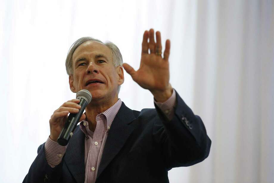 "Texas Governor Greg Abbott, seen on Oct. 2, 2017, warned in a campaign fundraising letter that billionaire George Soros ""unloaded a whopping $1 million to install his liberal puppets in positions of power"" in Texas this fall. Photo: Kin Man Hui /San Antonio Express-News / ©2017 San Antonio Express-News"