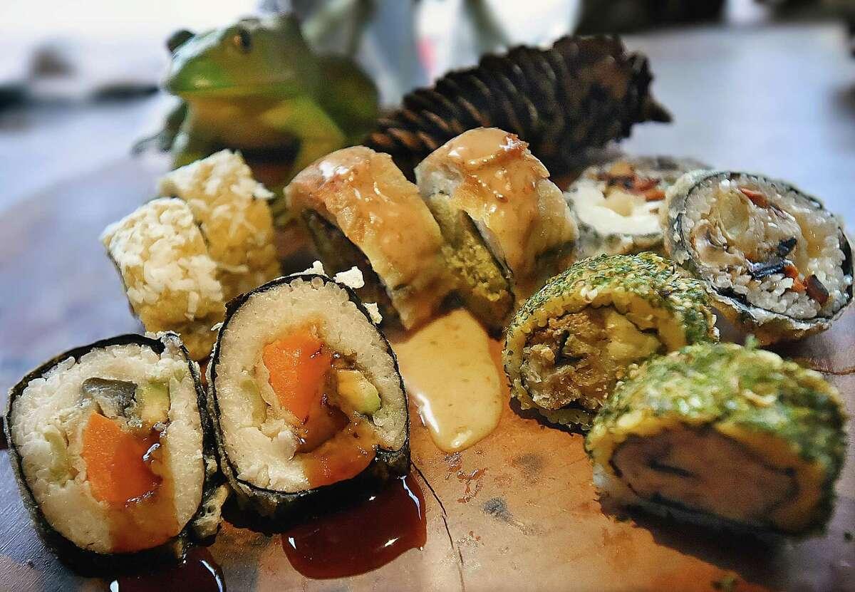 A sampling of sustainable sushi at Miya's.