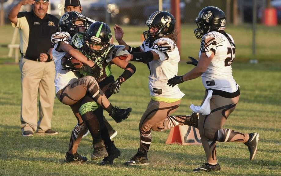 The Laredo Phantasy kicked off the ICON Women's Football Association season on a high note Saturday rolling 62-13 over the SWTX Mockingjays at Slaughter Park. Photo: Danny Zaragoza /Laredo Morning Times