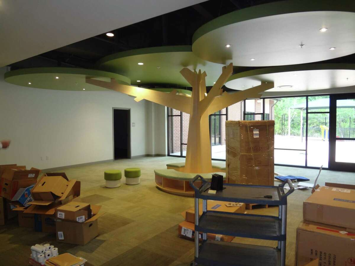 The Christ Church United Methodist renovations also include interior areas for children to play and relax, including this unique room with a feature called