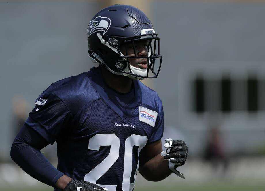 Seahawks' rookie running back Rashaad Penny sat down with the SeattlePI Tuesday for a Q&A. He makes his live action debut for Seattle Thursday night, as the Seahawks open the 2018 preseason against the Indianapolis Colts.  Photo: Ted S. Warren/AP