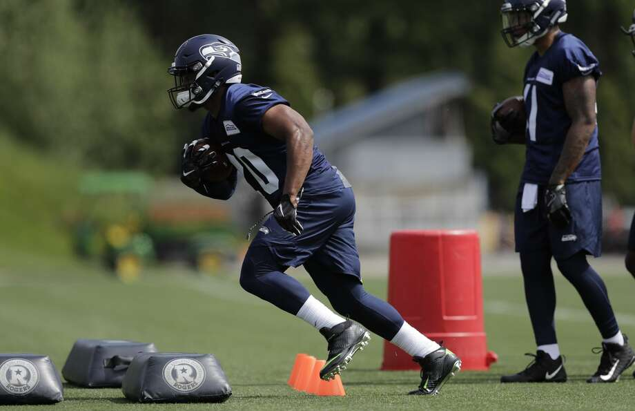 Rashaad Penny was the Seahawks' top pick in the 2018 NFL draft, selected No. 27 overall in the first round. STRENGTHS: Penny has been praised for his patience in the backfield, his vision, durability and the ability to run with power. He also has receiving and kick returning skills. Photo: Ted S. Warren/AP