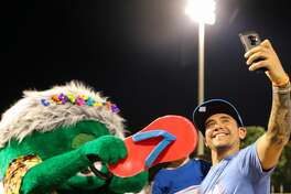 The San Antonio Missions made their debut as the Flying Chanclas at their May 5, 2018, home game versus the Corpus Christi Raspas - or Corpus Christi Hooks. Thousands of fans joined in on the Cinco de Mayo fun and got their first glimpse at the team's new mascot, Mama Peno.