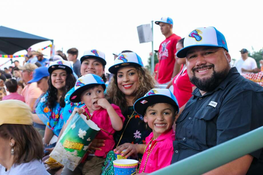 The San Antonio Missions made their debut as the Flying Chanclas at their May 5, 2018, home game against the Corpus Christi Raspas, or the Corpus Christi Hooks. Thousands of fans joined in on the Cinco de Mayo fun and got their first glimpse at the team's new mascot, Mama Peno. Photo: Stacey Lovett, For MySA.com
