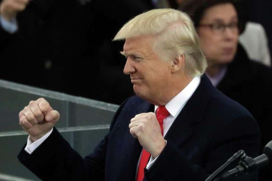 WASHINGTON, DC - JANUARY 20:  U.S. President Donald Trump delivers his inaugural address on the West Front of the U.S. Capitol on January 20, 2017 in Washington, DC. In today's inauguration ceremony Donald J. Trump becomes the 45th president of the United States.  (Photo by Chip Somodevilla/Getty Images) Photo: Chip Somodevilla / Getty Images / 2017 Getty Images
