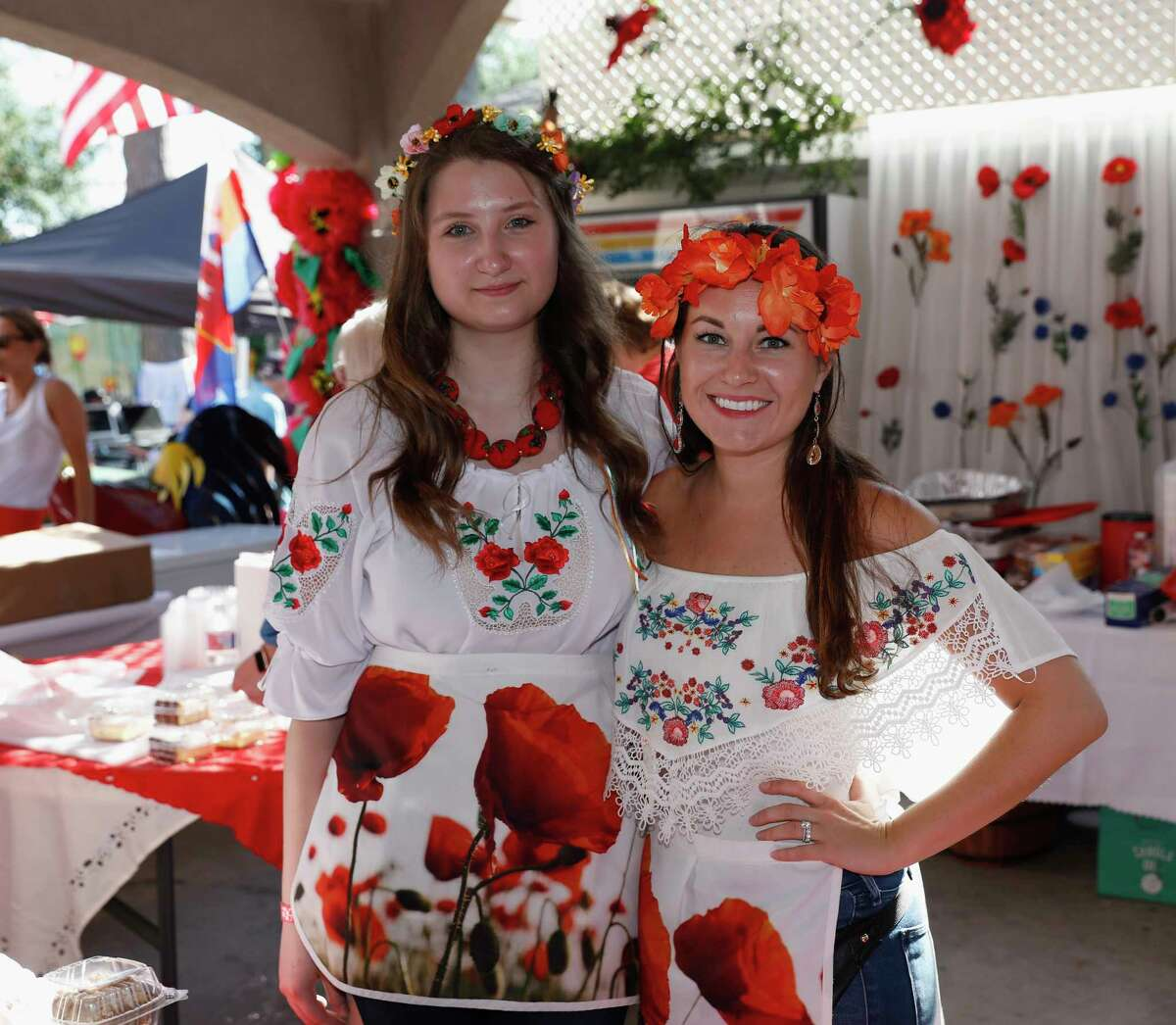 Marzena Nowobilski (left) and Jola Paz (right) serve desserts during the Houston Polish Festival at Our Lady of Czestochowa Parish in Houston, TX on Saturday, May 5, 2018.