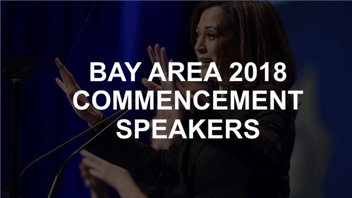 Click through the slideshow to see the notable speakers for the Bay Area's 2018 commencement ceremonies.