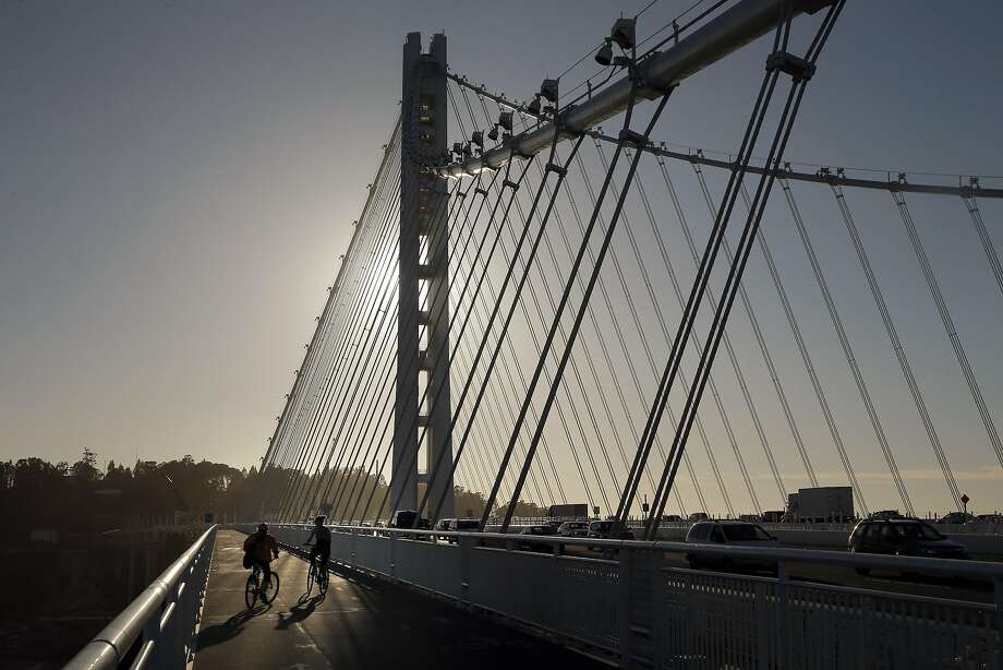 The Bicycle Pedestrian Path on the Bay Bridge will be part of the 2019 Oakland Marathon race course. Photo: Carlos Avila Gonzalez, The Chronicle