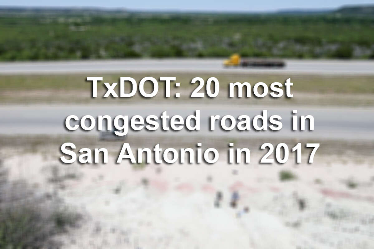 Click ahead to find the stretches of roads and highways where San Antonio drivers sat through the most traffic in 2017, according to TxDOT.