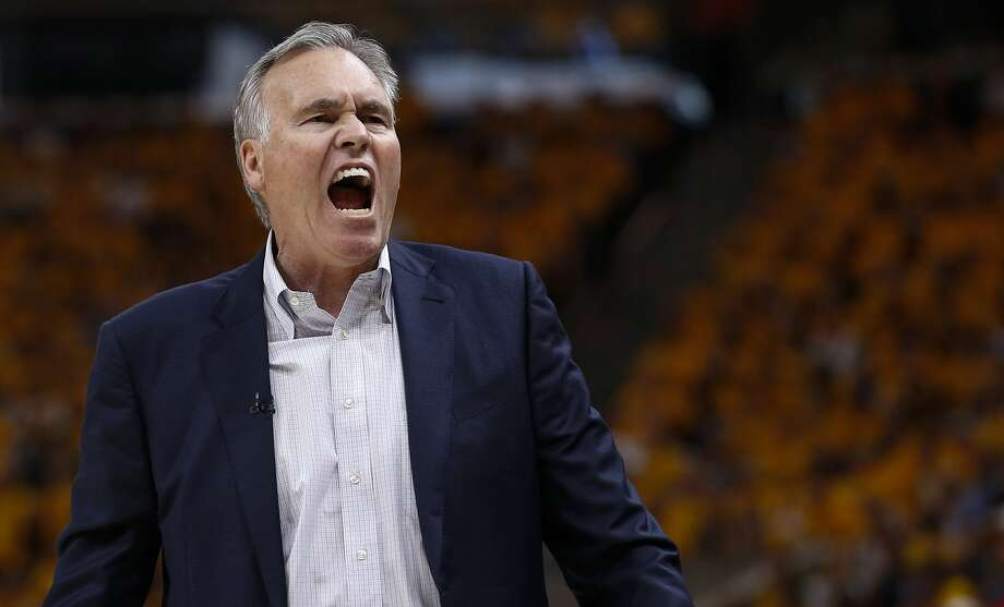 Houston Rockets head coach Mike D'Antoni yells from the bench during the first half of Game 4 of the NBA second-round playoff series against the Utah Jazz at Vivint Smart Home Arena Sunday, May 6, 2018 in Salt Lake City. (Michael Ciaglo / Houston Chronicle) Photo: Michael Ciaglo/Houston Chronicle