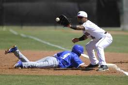 TAMIU finished up its 2018 campaign losing 12-0 and 3-2 in a doubleheader at Heartland Conference regular-season co-champion St. Edward's Sunday. First baseman Ricky Gonzalez had one of the Dustdevils' two hits in Game 1 and drove in one of their two runs in Game 2.
