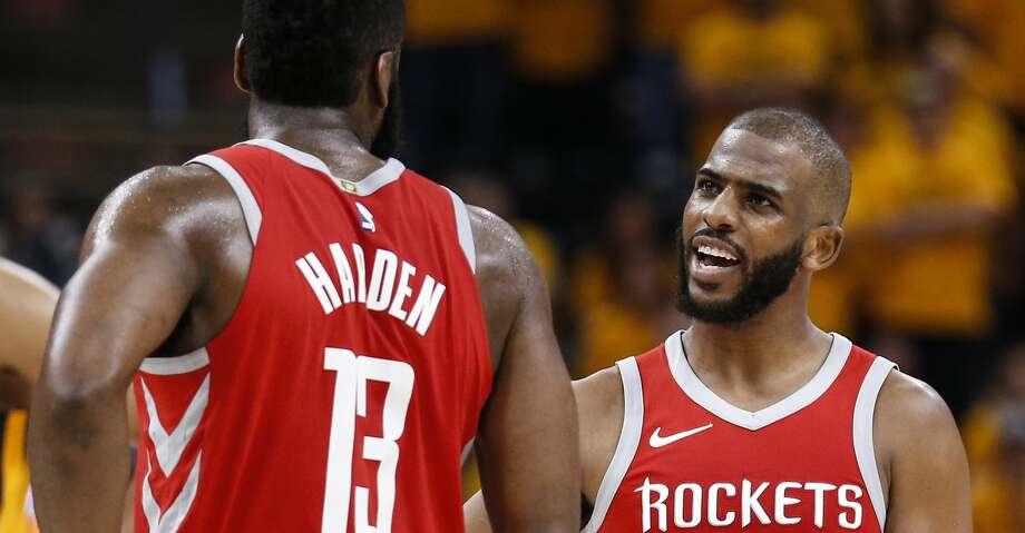 d65fbb4af2f Houston Rockets guard James Harden (13) and Houston Rockets guard Chris  Paul (3