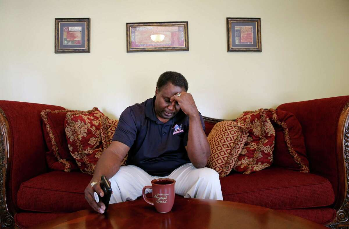 Ronnie Lippett talks about his struggles at his home in South Easton, Mass., in March. The retired New England Patriots cornerback has diagnosed with dementia and has cognitive problems related to playing football, but the NFL is denying him benefits under the concussion settlement.