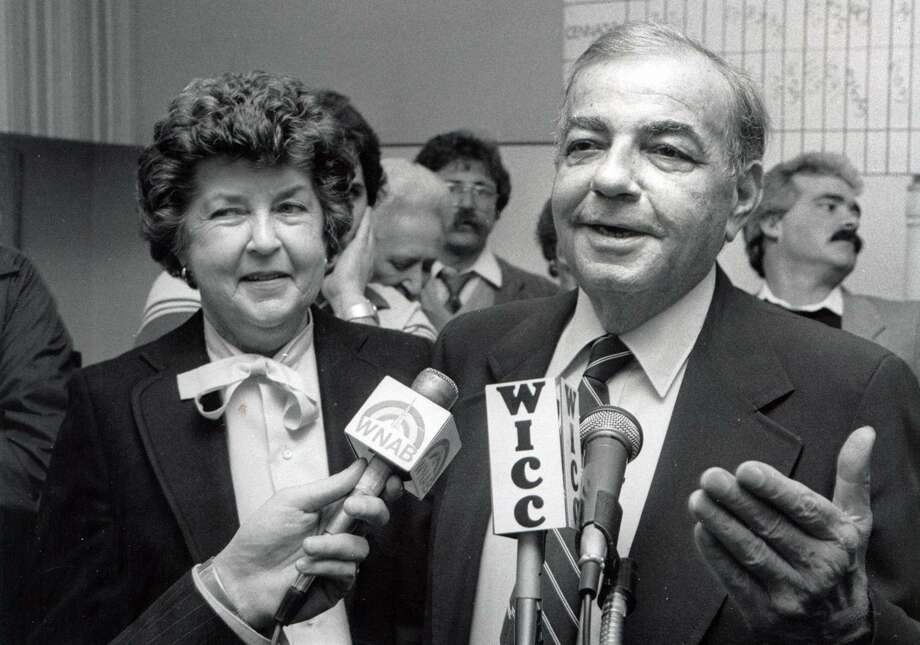 Bridgeport Mayor John C. Mandanici and his wife Mary Grace, Nov. 9th, 1983. Mandanici was mayor 1975-1981. Photo: File Photo / File Photo / Connecticut Post File Photo