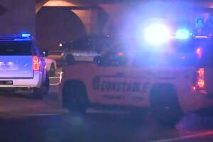 One person died in a crash at the end of a police chase near the 9200 block of the Katy Freeway outbound service road, on May 6, 2018.