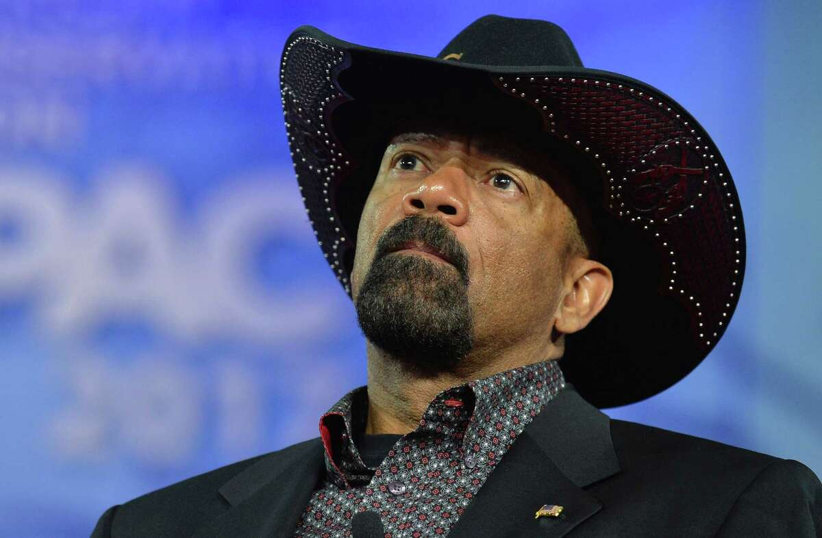 Milwaukee County Sheriff David A. Clarke, Jr. listens to remarks during the Conservative Political Action Conference (CPAC) at National Harbor, Maryland, February 23, 2017. Politicians, pundits, journalists and celebrities gather for the annual conservative event to hear speakers, network and plan agendas for the new President Trump administration. / AFP PHOTO / Mike TheilerMIKE THEILER/AFP/Getty Images ORG XMIT: The Ameri