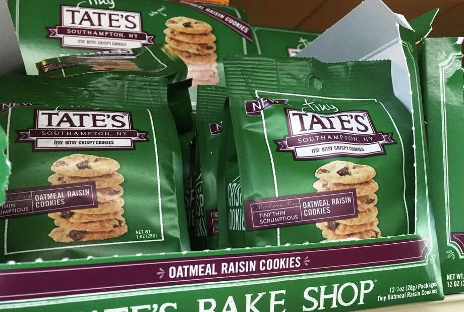 Tate's Bake Shop cookies on display in Weston, Conn. in May 2018. On May 7, Mondelez International announced it would acquire Long Island, N.Y.-based Tate's for $500 million. Photo: Alexander Soule / Hearst Connecticut Media / Stamford Advocate