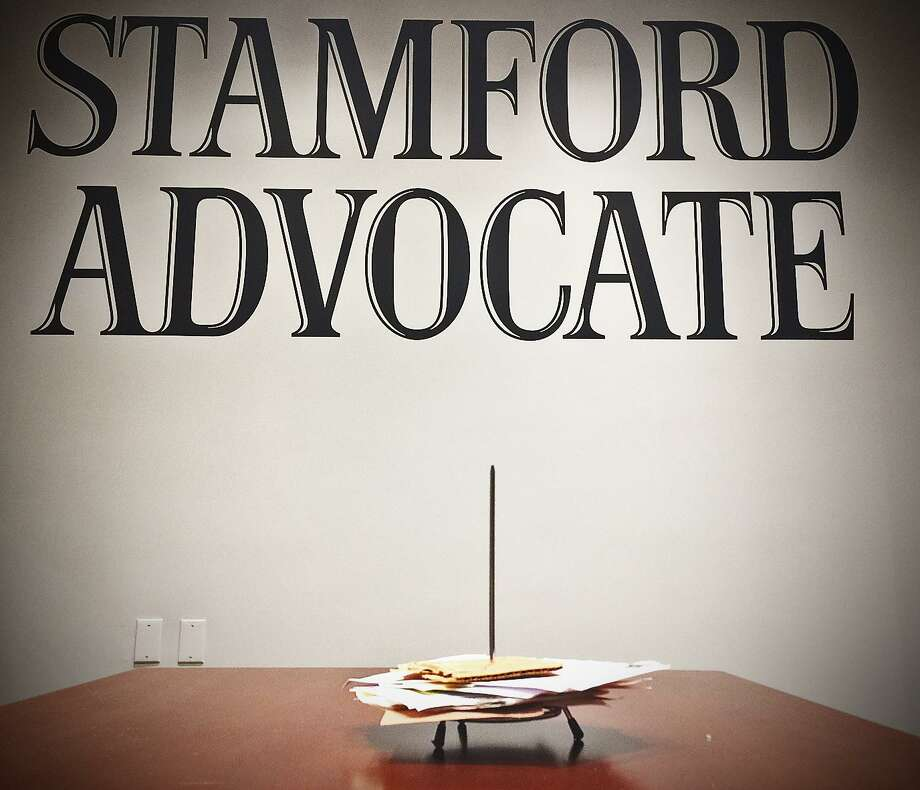 The Stamford Advocate moved to the first floor of 1055 Washington Blvd. across from Mill River Park last week. Photo: John Breunig / Hearst Connecticut Media / Stamford Advocate
