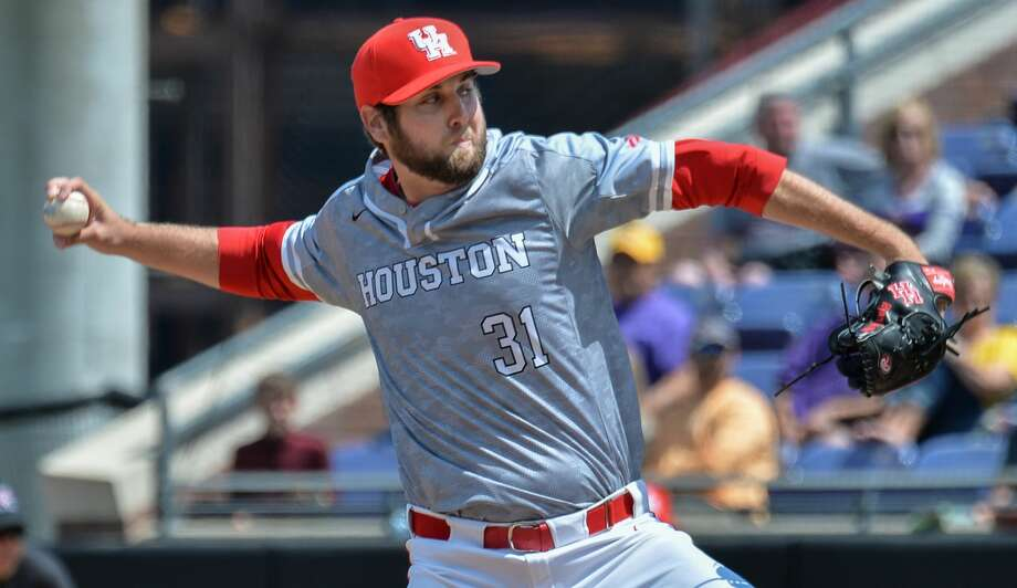 GREENVILLE, NC - APRIL 29: Houston pitcher Ryan Randel (31) throws a pitch during a game between the Houston Cougars and the East Carolina Pirates at Lewis Field at Clark LeClair Stadium in Greenville, NC on April 29, 2018. Houston defeated ECU 6-5.(Photo by Greg Thompson/Icon Sportswire via Getty Images) Photo: Icon Sportswire/Icon Sportswire Via Getty Images